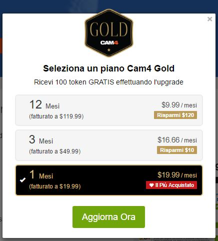 gold membership 1 mese