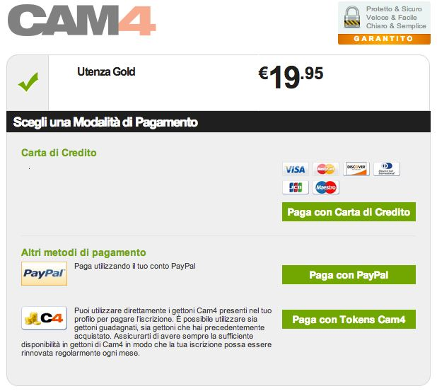 paga old  con token cam4